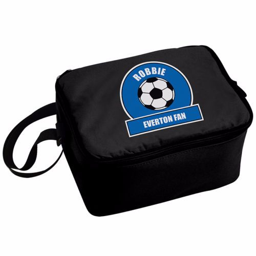 Personalised Insulated Lunch Bag - Blue & White Football Theme