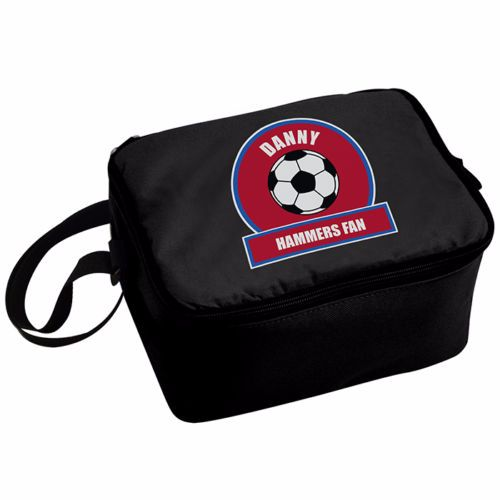 Personalised Insulated Lunch Bag - Claret & Blue Football Theme