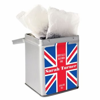 Personalised Small Tea Tin / Tea Caddy - Union Jack