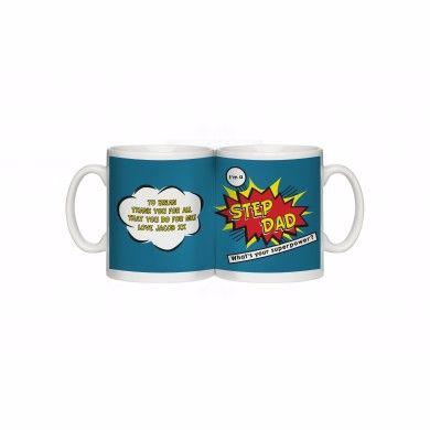 Personalised Super Step Dad Mug