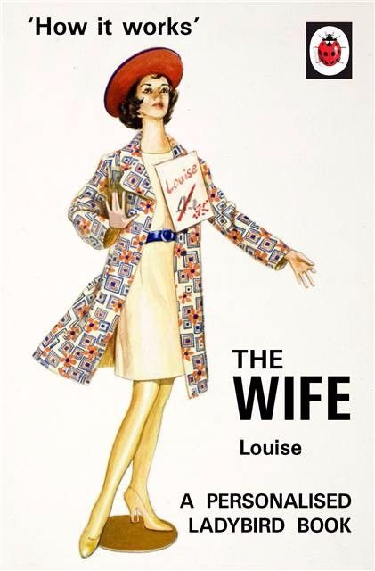 Personalised Ladybird Book HOW IT WORKS - THE WIFE Adult Humour Book