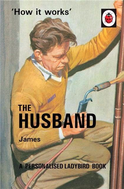 Personalised Ladybird Book HOW IT WORKS - THE HUSBAND Adult Humour Book