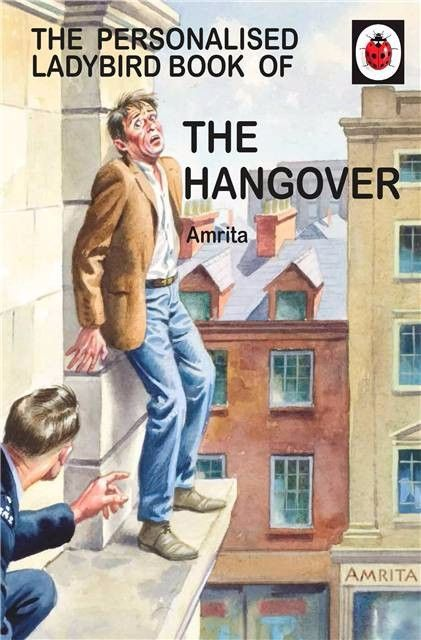 Personalised Ladybird Book HOW IT WORKS THE HANGOVER for HER Adult Humour B