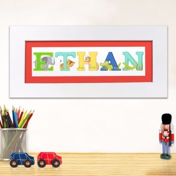 Personalised Childrens Alphabet Name Frame