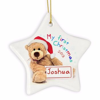Personalised MY 1st CHRISTMAS Ceramic Christmas Tree Decoration