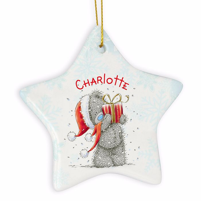 Personalised ME TO YOU Ceramic Star Christmas Tree Decoration