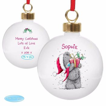 Personalised ME TO YOU CHRISTMAS BAUBLE Ceramic Christmas Tree Bauble Decoration