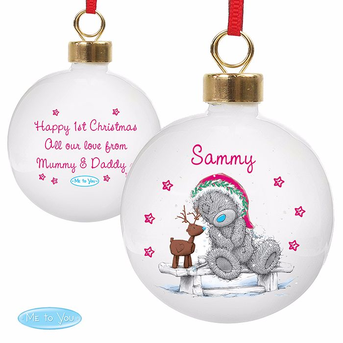Personalised ME TO YOU CHRISTMAS BAUBLE Ceramic Christmas Tree Bauble Decor