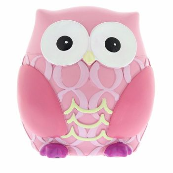 Personalised Pink Owl Money Box