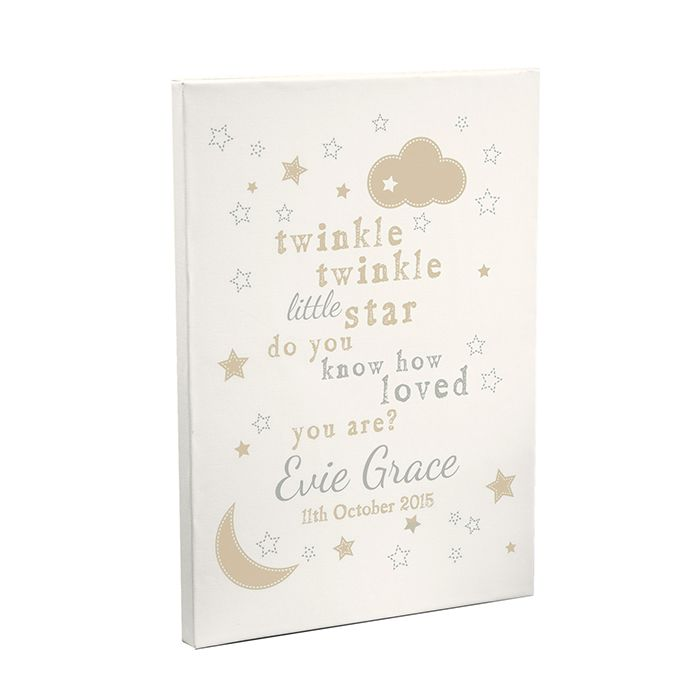 Personalised TWINKLE TWINKLE Nursery Canvas