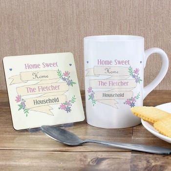 Personalised Floral Garden Bloom Coaster & Mug