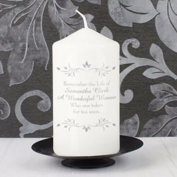 Personalised SENTIMENTS Memorial Candle