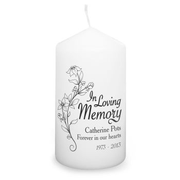 Personalised IN LOVING MEMORY Memorial Candle