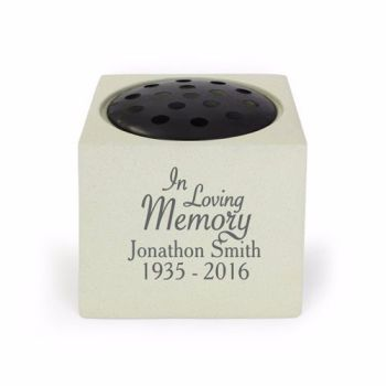 Personalised IN LOVING MEMORY Grave Urn / Memorial
