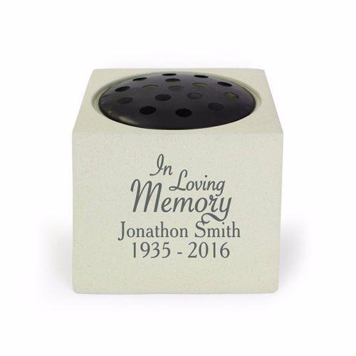 Personalised IN LOVING MEMORY Grave Urn / Memorial