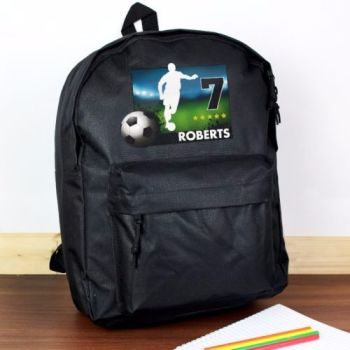 Personalised TEAM PLAYER Football Theme School Bag / Rucksack