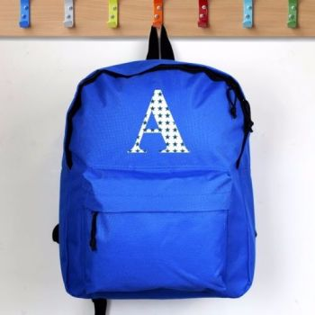 Personalised INITIAL Theme School Bag / Rucksack