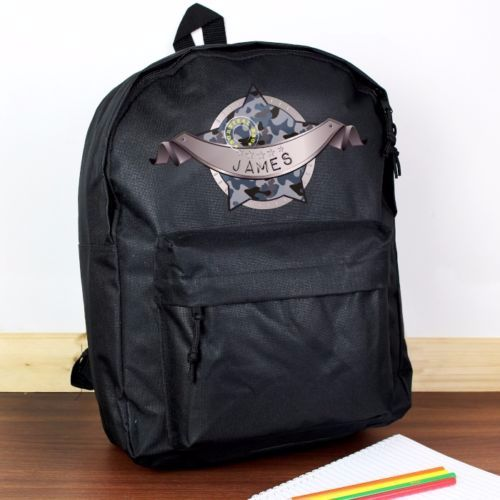 Personalised ARMY CAMO Theme School Bag / Rucksack