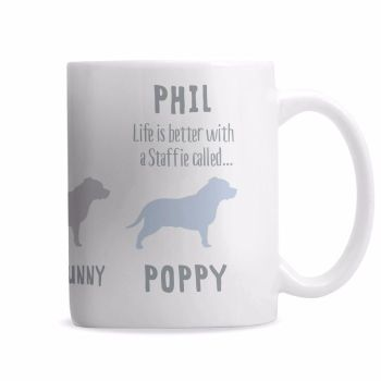 Personalised STAFFORDSHIRE TERRIER Mug