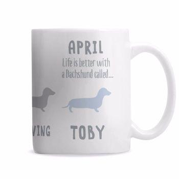 Personalised DACHSHUND Mug