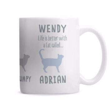 Personalised CAT QUALITIES Mug