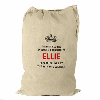 Personalised DELIVER PRESENT TO... Cotton Christmas Sack