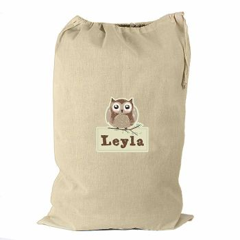 Personalised WOODLAND OWL Cotton Christmas Sack