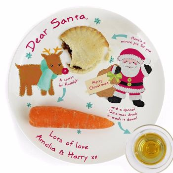 Personalised FELT STITCH FRIENDS Christmas Eve Mince Pie Plate