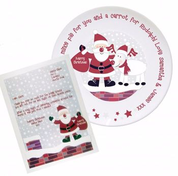Personalised SANTA Christmas Eve Mince Pie Plate + Thank You From Santa Letter