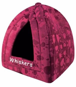 Personalised Cushioned Cat Bed, Kitten Bed, Small Dog Bed - Maroon