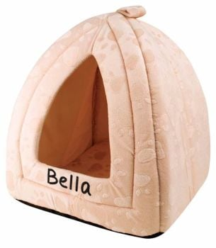 Personalised Cushioned Cat Bed, Kitten Bed, Small Dog Bed - Cream
