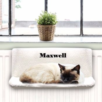 Personalised Radiator Cat Bed, Kitten Bed