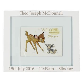 Personalised DISNEY BAMBI Baby Frame / Wall Plaque - Baby, Christening, Baptism Gift