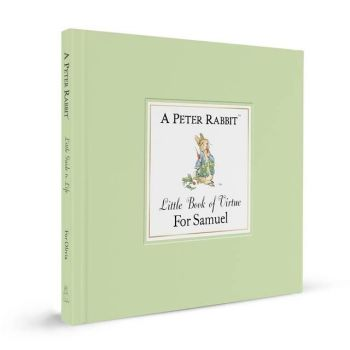 Personalised Witty Boxed PETER RABBIT Little Book of Virtue, Beatrix Potter Gift