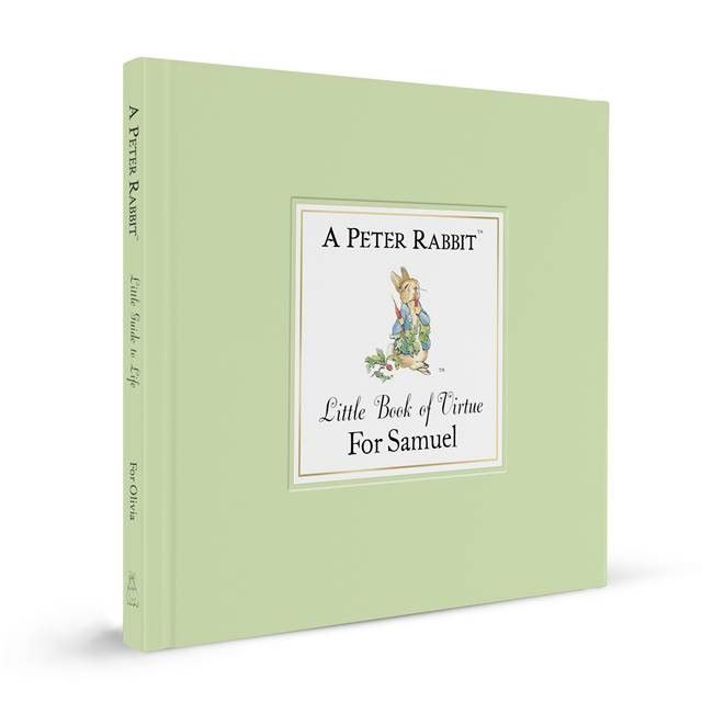 Personalised Witty Boxed PETER RABBIT Little Book of Virtue, Beatrix Potter