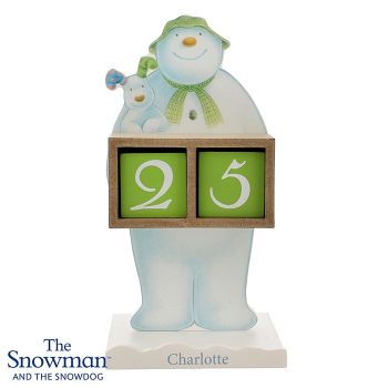 Personalised SNOWMAN & SNOWDOG ADVENT CALENDAR