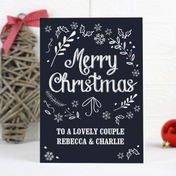 Personalised CHRISTMAS FROST Christmas Card