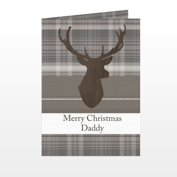 Personalised CHRISTMAS STAG Christmas Card
