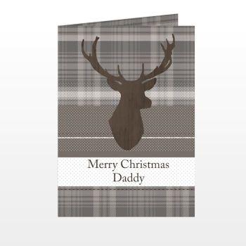 Personalised CHRISTMAS STAG Christmas Card