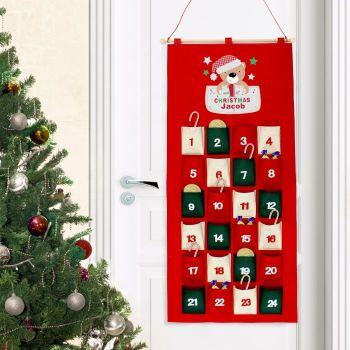 Personalised MY 1st CHRISTMAS Felt ADVENT CALENDAR