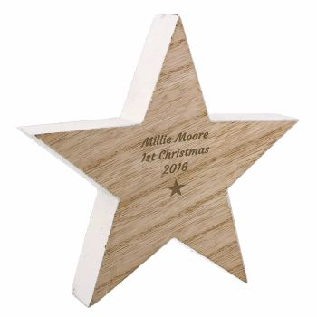 Personalised RUSTIC Wooden STAR