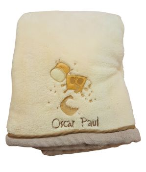 Personalised Microfleece BABY SNUGGLE BLANKET