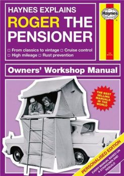 Personalised HAYNES EXPLAINS PENSIONERS Book - Retirement Grandparents 60+
