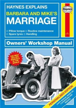 Personalised HAYNES EXPLAINS MARRIAGE Book - Couples Wedding Anniversary Love