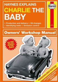 Personalised HAYNES EXPLAINS BABIES Book - New Baby New Parents New Dad New Mum