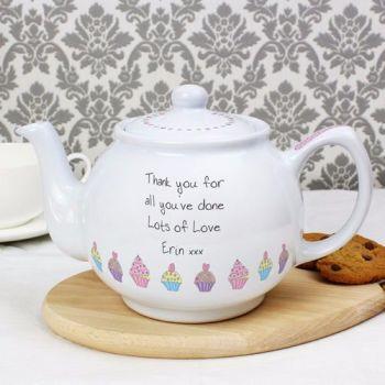 Personalised CUPCAKE Teapot
