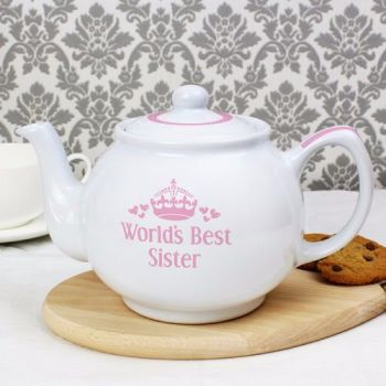 Personalised WORLD'S BEST Teapot