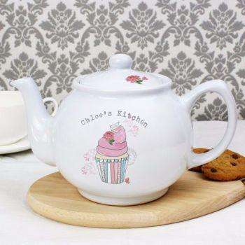 Personalised VINTAGE CUPCAKE Teapot