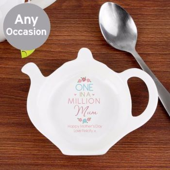 Personalised TEA BAG REST - One in a Million