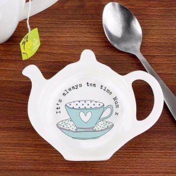 Personalised TEA BAG REST - Vintage Tea cup